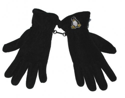 linux-tux-fleece-handschuhe