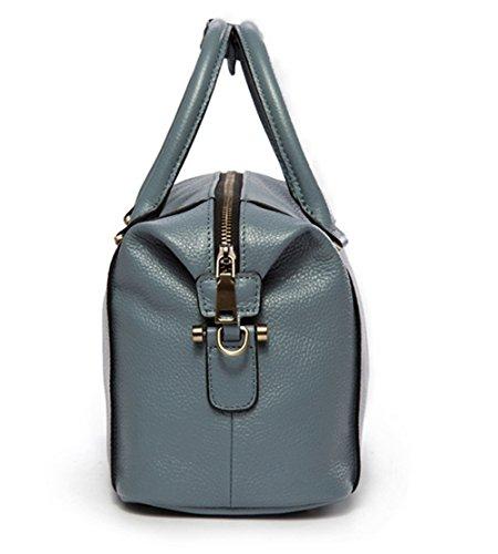 Xinmaoyuan Borse donna in pelle di vacchetta borsette di Boston borsa tracolla diagonale Sacchetto a cuscino Blue