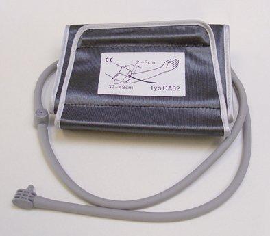 boso Zubehör - XL Manschette für Blutdruckmessgeräte – Klettmanschette mit integriertem Schlauch und Zusatzventil – Zugbügelklettenmanschette 32-48 cm