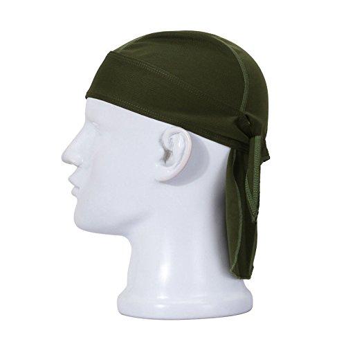 Armee Bandana (Koolip Schweiß Wicking Beanie Chemo Skull Cap - Head Wrap Fahrrad Laufen Maske Bandana Schal für Damen Herren, Unisex, Armee-grün)