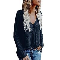 Dames buttoned V-kraag elegante blouse sweatshirt lange mouwen jongens chique vintage mode pullover top T-shirt herfst