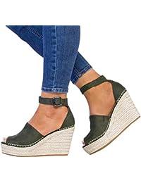 Mujer De Zapatos Vestir Sandalias Amazon Para esVerde LpqSMGUzV