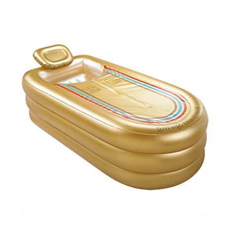 JCOCO Faltende aufblasbare Starke Plastikbadewanne-Haushalts-Erwachsene Kind-Schaumbad-Wanne haltbar und Schmutz/flexibel/einfach zu Falten (168 * 78 * 45cm) -