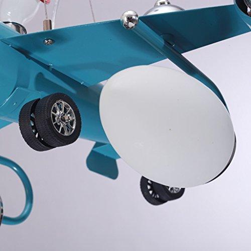 Guo Kinderzimmer Schlafzimmer Lichter Kämpfer Kreative Kronleuchter Junge Aircraft Lichter Hardware-Technologie E14 Lampe Port - 2
