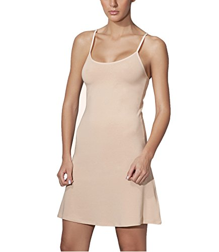 Doreanse Damen Unterkleid Mini Nachtkleid verstellbare Träger Soft Cotton Full Slip (38 - M, Haut) (Slip Damen Full)