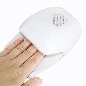 Sasairy Mini Secador de Uñas Dedo Toe polaco rápido al aire herramienta profesión arte de uñas secador de soplador…
