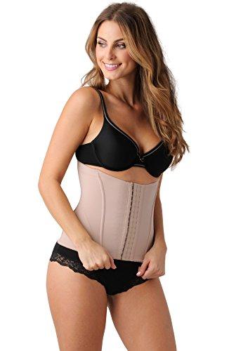 Belly Bandits Mother Tucker Korsett mit Weichen Knochen für Damen, Doppellagige Kompression, Leichtes Formkleid Nackt
