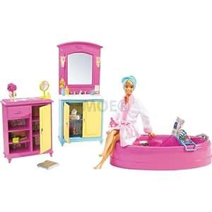salle de bain de barbie jeux et jouets. Black Bedroom Furniture Sets. Home Design Ideas