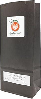 Poivre de Cayenne et le thé Oolong sachets de tisane - paquet de 25