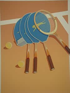 Couvertures hors Tennis imprimer par Michael Potter cms 75 x cms 55 Limited Edition Signed Print