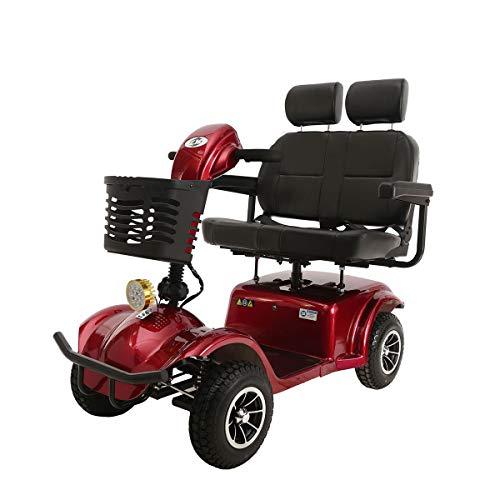 QXue Double siège Pliable Scooter Électrique Senior pour...
