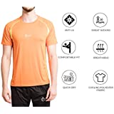 Fitup Life Orange Sports Polyester & Spandex T-Shirt (Imported)