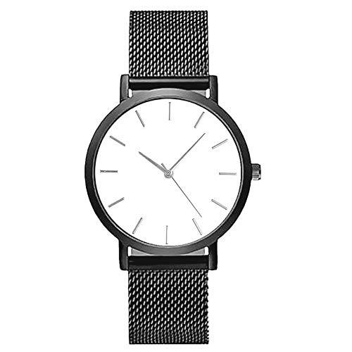 Kostüm Milanaise - Armbanduhr für Damen und Herren, wasserdicht, Edelstahl, Quarzuhrwerk, Armband Milanaise Analog, ultradünn, modisch
