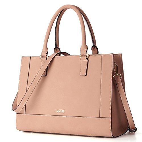 Kadell Womens Large Capacity Matte Leder Tote Handtaschen Geldbörse Schulter Satchel Taschen Beige (Tasche Tote Kosmetik)