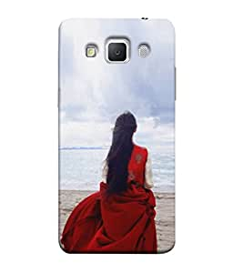 PrintVisa Designer Back Case Cover for Samsung Galaxy Grand 3 :: Samsung Galaxy Grand Max G720F (Beauty Sea Beach Dress Background Wallpaper)