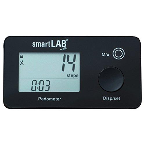 smartLAB walk 3D Schrittzähler / Aktivitätsmonitor Schwarz mit Anzeige