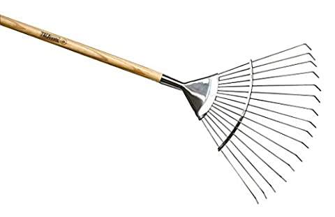 Tala Tools Stainless Steel Lawn Rake with Ash