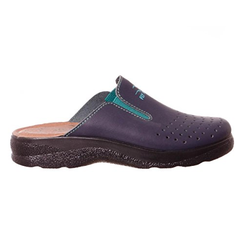 Ciabatta sanitaria donna made in italy fly flot bianca bianco blu ospedale ciabatte sanitarie fly flot art 371 (37, blu)