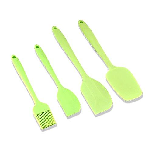 ZXY kitchen supplies zxy Silikon Schaber Set mit 4Farben mischen Tuba Spatula Thickening Butter, Klinge leuchtend grün (Butter-mischung Einfache)