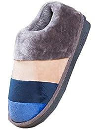 d788f8d1e7f Mujer Fleece Forrado A Rayas Invierno Confortables Zapatillas Zapatos de la  casa