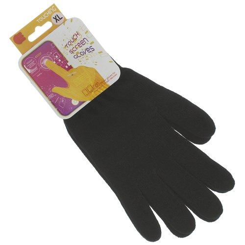 Handschuhe schwarz Größe XL für Kapazitive Displays für Nokia X6 N8 C7 E7 N9 500 Fate 603 Asha 303 Lumia 710 (Nokias Asha 303)