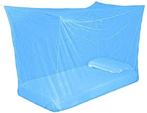 Vbest Mosquito Net Single Bed Foldable with Saviours Multicolor (Size 4 X 6)
