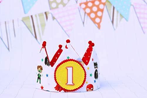 Corona compleanno supereroi per bambini