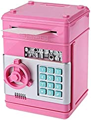 Kids Mini Electronic Money Bank Coin Cash Saving Box,PINK