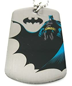 Batman The Dark Knight Dog Tag & Chain Necklace by DC Comics