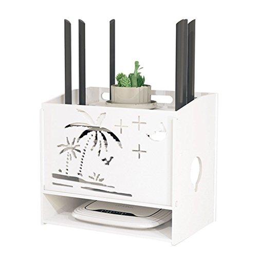 ungsbox für die Wandmontage, WiFi-Set-Top-Box-Rack, durchschlagsfreier Hub Cable Organizer ()