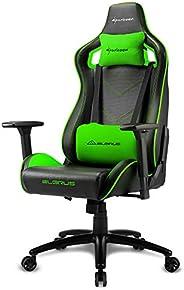 Sharkoon Elbrus 2 Gaming Chair/ Seat, Durable upto 150 Kgs - Black/ Green