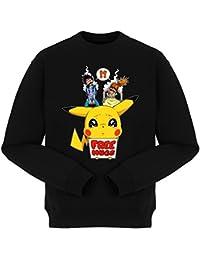 Pull Free Hugs - Parodie Pikachu de Pokemon - Pika Free Hugs :) - Pull Noir - Haute Qualité (876)