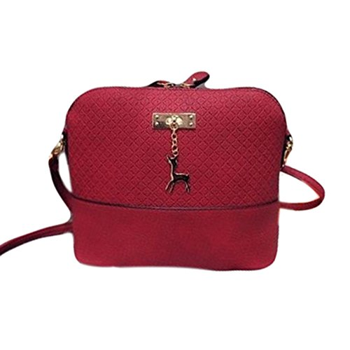 Jiacheng29, Borsa a tracolla donna, Black (nero) - RKRG142602WIEK25534 Wine Red