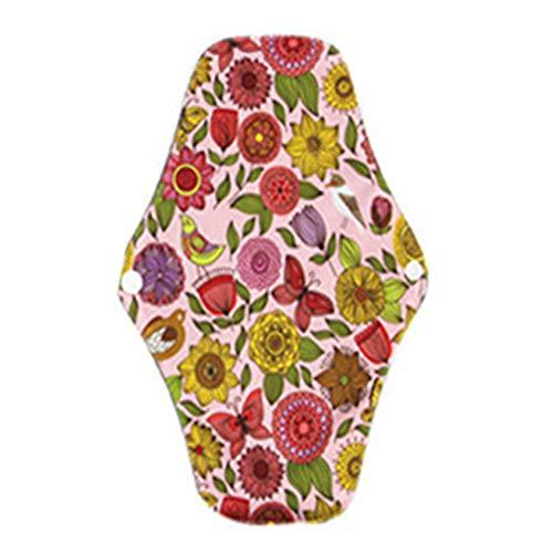 Denret3rgu Paño cojín menstrual reutilizable toalla