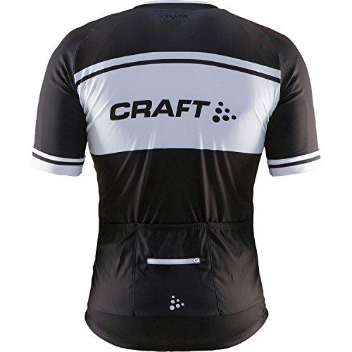 Craft Herren Radtrikot Classic Logo Jersey Black/White