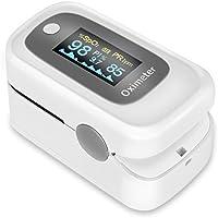 GHB Pulsímetro Oxímetro de Pulso y Monitor de Ritmo Cardíaco con Dos Pantalla OLED de Color Parámetros: SpO2 PR PI ODI