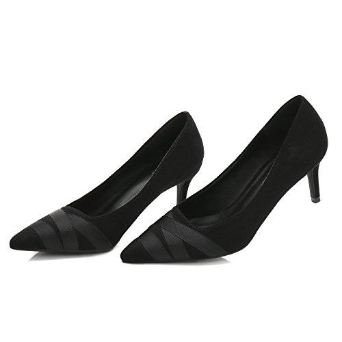 la inverno in in qualità FLYRCX per in donna tacco Europeo punta Di e nastro dimensione europea autunno parte alta calzature scarpe del sesso Cucitura alto 33 cucitura stile striscia profonda C poco 40 qrttnvzPB