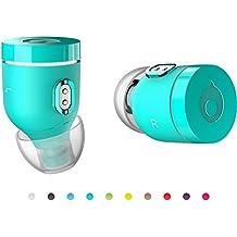 Air by crazybaby (NANO) véritable écouteurs Bluetooth sans fil avec capsule de charge, Bluetooth 5.0 compatible, avec une autonomie de batterie d'une journée et microphone, turquoise, Nouveauté Prime Day