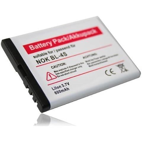 BATERÍA compatible con NOKIA X3 touch y X3-02 Touch. Como sustituto de baterías BL-4S