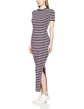 Hilfiger Denim Damen Kleid Thdw Fitted Stripe Dress S/S 45