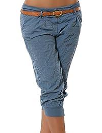 Juqilu Femme Pantalons Courts 3/4 Sarouel Pantalons Short Pantacourt Legging Casual Eté Confortable Chino Short Mode Grande taille S-5XL