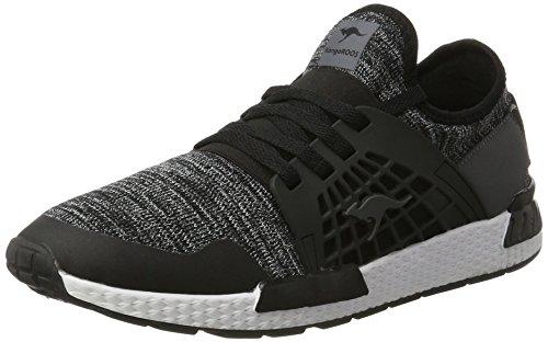 KangaROOS Herren W-500 Sneaker Schwarz (Jet Black/Steel Grey)