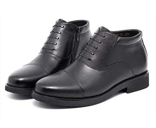 Herren Leder Frühling Herbst Schwarz Schwarz Komfort Komfort Low Top Casual Formale Derby Oxford Lace Loafers Schuhe,Black-25(CM)=9.84(inch)=EU39=6UK=label(40) (Loafer Komfort Leder)