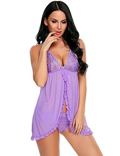 ADOME Damen Baby Doll Gr. Small, violett