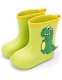 Gainsera Botas de Agua Impermeable y Antideslizante Caucho de EVA Botas de Lluvia para Niños y Niñas