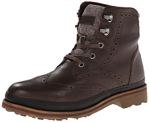 Pajar Evan Uomo in pelle impermeabile Stivali da neve, marrone (Dark Brown), 42 EU-42,5 EU