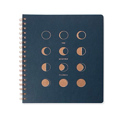 TN Moon Phases 879002 Monatsplaner mit Fransen, nicht datiert, 152 Seiten, 20,3 x 24,1 cm -