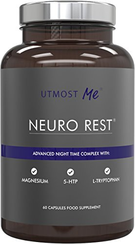 5-HTP + Magnesium + Natural Melatonin Sleeping Aid - Montmorency Cherry, Chamomile, L Tryptophan Supplement Pills | Neuro Rest Tablets by Utmost Me Test