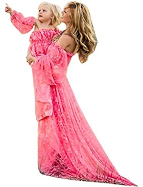 OHQ moda Abito premaman Puntelli di fotografia sexy di donne in gravidanza Abito lungo da donna con spalline in...