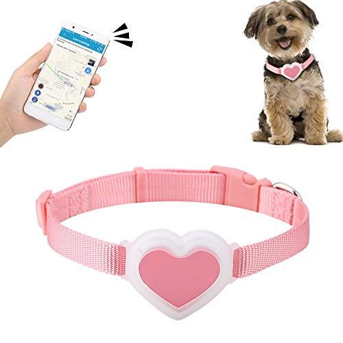 Hffheer Rastreador GPS para Mascotas Perro Gato Collar de Seguimiento en Tiempo...